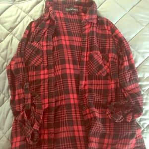 Small red/black flannel